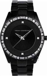 FCUK Crystal Ladies Black Stainless Steel Bracelet FC1008B