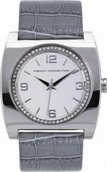 FCUK Ladies Grey Leather Strap FC1027GR