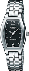 Casio Women's Collection Black Dial - Stainless Steel Brac - LTP-1281D-1AEF