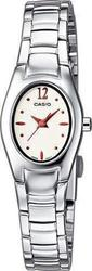 Casio Women's Collection White-Red Dial&Stainless Steel Br - LTP-1278D-7A2EF