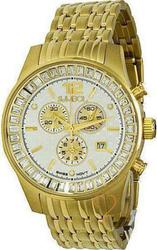 Symbol Chronograph Crystal Gold Stainless Steel Bracelet - SY9153GW