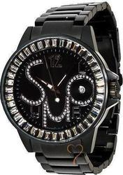 Symbol Crystal Black Stainless Steel Bracelet SY9146BB