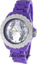Ed Hardy Roxxy Purple Crystal Swarovski Watch RX-PU