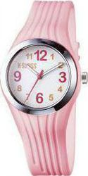 K-Swiss Pink Rubber Strap White Dial 930045512