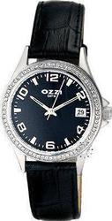 Ozzi Crystal Black Leather Strap W06455