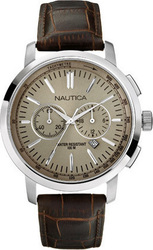Nautica Brown Leather Chronograph A19573G