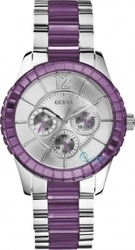 Guess Ladies Watch Purple & Silver Stainless Steel W13582L4