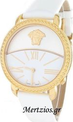 Versace Krios Rose Gold White Leather 93Q80D002S001