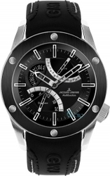 Jacques Lemans Liverpool GMT Black Leather Strap 1-1634A