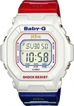 Casio Baby-G Shock Resistant Red-Blue Rubber Strap - BG-5600KS-7ER