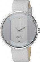 Esprit Ρολόι Eclipse Silver Case White Leather Strap ES103772001