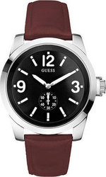 Guess Black Dial Red Leather W10248G2