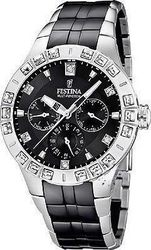 Festina Multifunction Crystal Black Ceramic and Steel Bracelet F16558/2