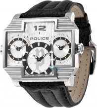 Police Hammer Head Double Time Black Leather PL13088JS-04
