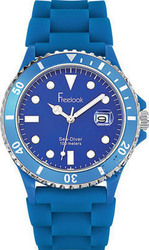 Freelook Sea Diver Blue Rubber Strap HA1433-6N