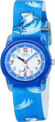 Timex Childs Indiglo Sharks Blue Strap T7B702