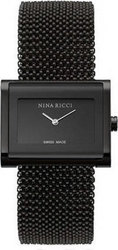 Nina Ricci Swiss Made Gold-Black Watch N025.52.40.21