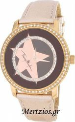 Mugler Crystal Rose Gold Leather Strap TM4713305