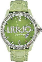 Liu Jo ColorTime Small Crystal Lady Green Dial and Leather TLJ118