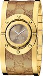 Gucci Women's Swiss Twirl Yellow Gold Plated Stainless Steel YA112434