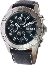 Catamaran Automaic Chrono Black Dial & Black Leather Strap - 80661355