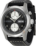 Hamilton Khaki Field Automatic Chronograph Black Leather Strap - H71566733