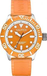 Nautica NSR 100 Orange Rubber Strap A09604G