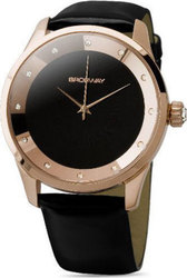 Brosway Crystal Lady RoseGold Case Black Dial and Leather MR03