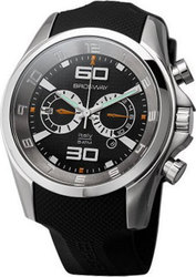 Brosway Chrono Black Dial and Rubber Strap - MG04