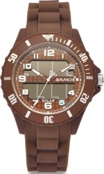 Avalanche Solar Power Brown Rubber Strap AV-1012S-BR