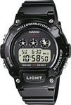 Casio Collection Black Rubber Strap - W-214HC-1AV