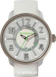 Tendence G-47 Date White Rubber Strap TG730001
