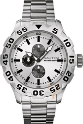 Nautica BFD 100 White Dial & Steel Bracelet A20094G