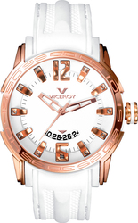 Viceroy Rose Gold White Rubber Strap 42117-05