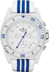 Adidas Adidas Stockholm Chrono White Dial Blue and White Fabric S ADH2665