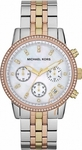Michael Kors Chrono Mop Dial Two Tone Stainless Steel Brac MK5650