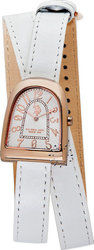 U.S. Polo Assn. Silchar Rose Gold White Leather Strap USP5028WH
