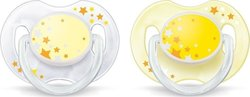 Philips Avent Night Time Pacifiers SCF176/18 Κίτρινη 0-6m 2τμχ