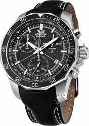 Vostok Europe Rocket N1 Grand Chronograph Black Leather Strap 6S30/2255177