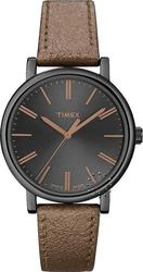 Timex Bronze Leather Strap Ladies T2N961