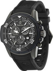 Timberland Black Dial and Rubber Strap - 13671JSB-02