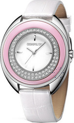 Cosmopolitan Crystal White Leather Strap - CM14403