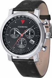Iceberg Phoenix Black Leather Strap 602-13