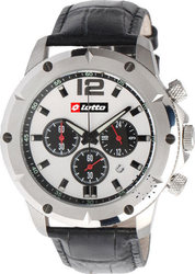 Lotto Chronograph Black Leather Strap LΜ7912-01