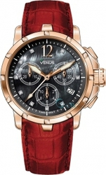 Venus Rose Gold Red Leather Chronograph VE-1315A6-85-L5