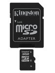 Kingston microSDHC 32GB Class 4 with Adapter
