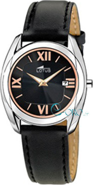 018f5253c1d2 Lotus Watches Classic Black Leather Strap L9961-3 - Skroutz.gr