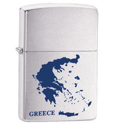 Zippo Map of Greece G085