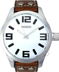 Oozoo Large Timepieces Brown Leather Strap