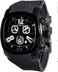 Tendence Round Bubble Black Rubber Strap